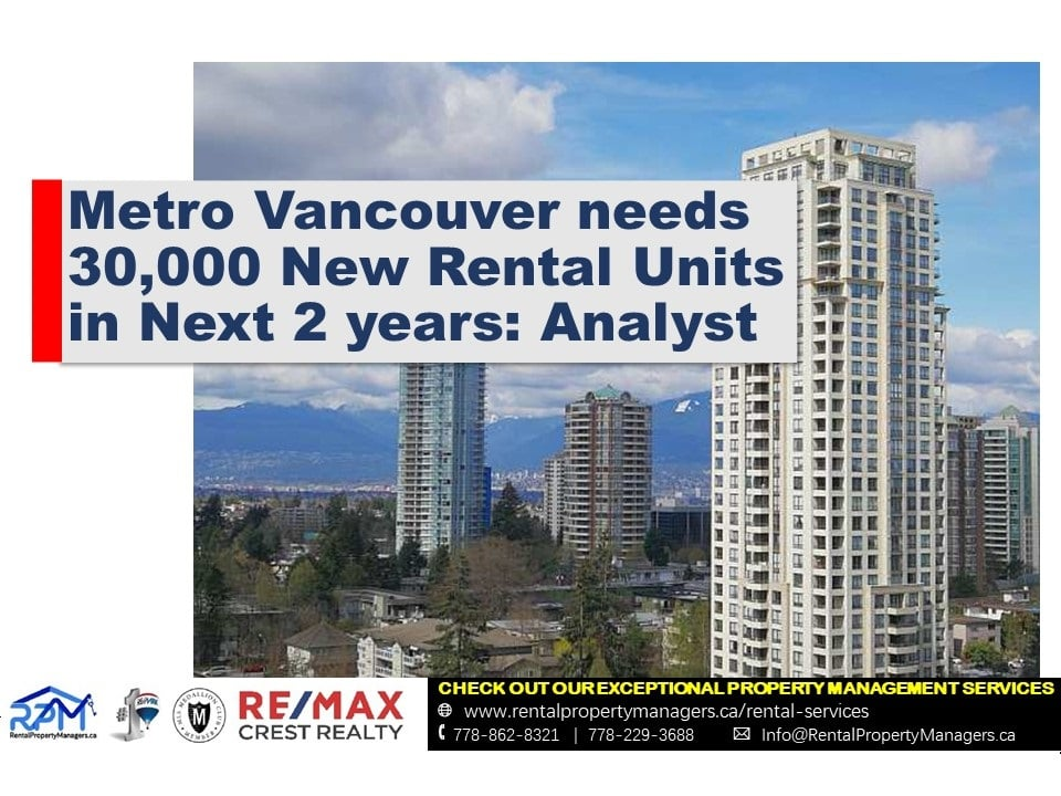 [MARKET] Metro Vancouver needs 30,000 new rental units in next two years: Analyst