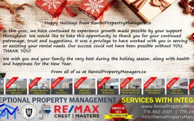 HAPPY HOLIDAY from RentalPropertyManagers.ca – Your Rental Property Managers in Greater Vancouver