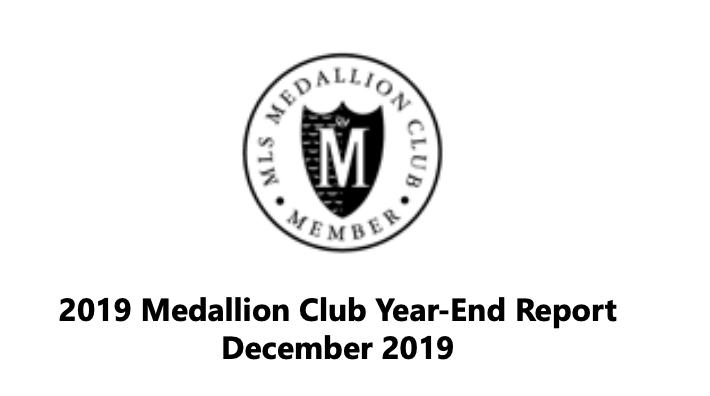 2019 Medallioin Club Year End Report Dec 2019