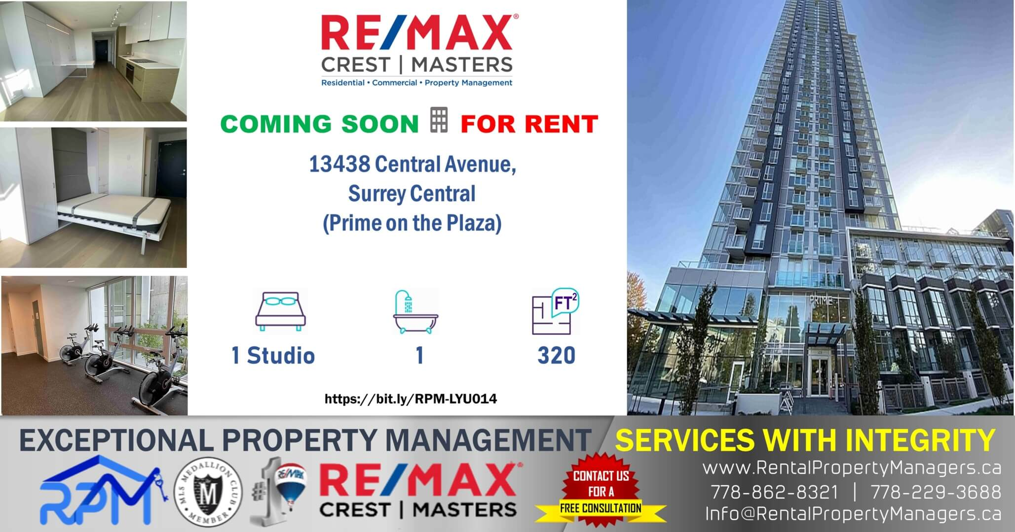 [COMING SOON ] FOR RENT 13438 Central Avenue, Surrey Central, 1 Studio Bedroom+1Bath (320Ft)