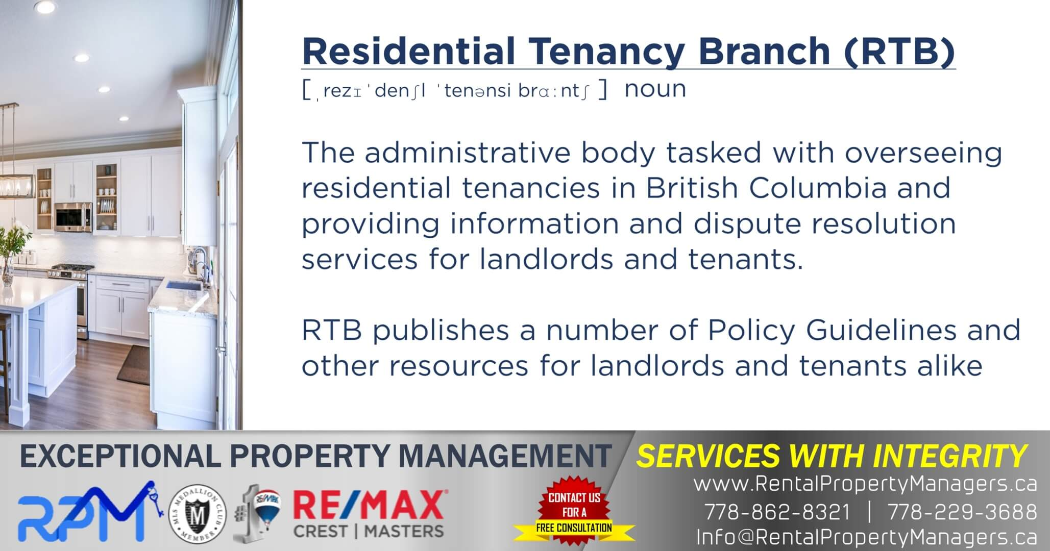 Residential Tenancy Branch (RTB)