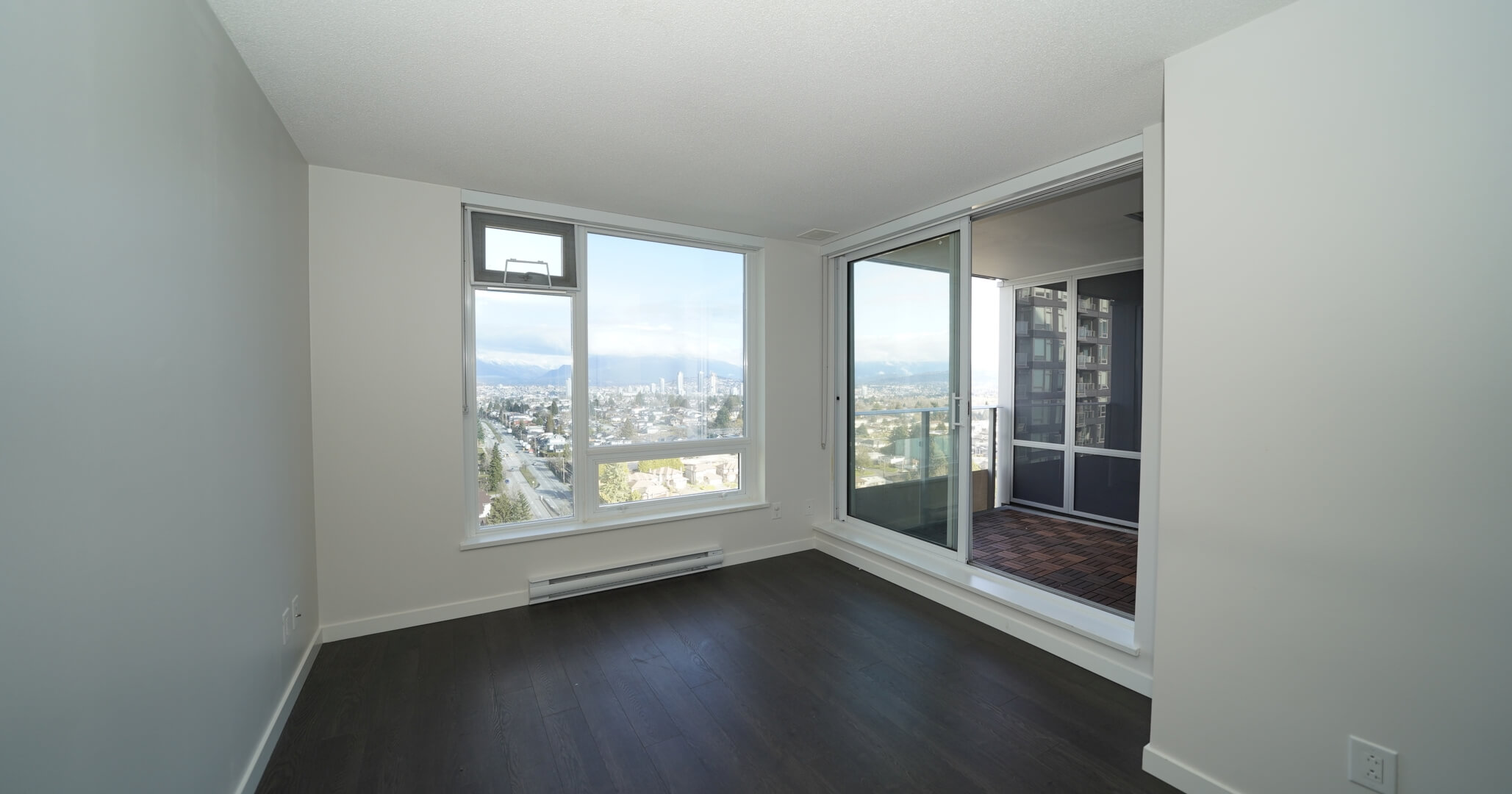 [FOR RENT]5515 Boundary Road (Wall Center Central Park Tower 2), 1Bedroom+1Flex+1Bath (503Ft+Balcony)