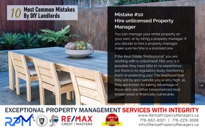 [10 Common Mistakes by DIY Landlords] Mistake #10 Hire unlicensed Property Manager