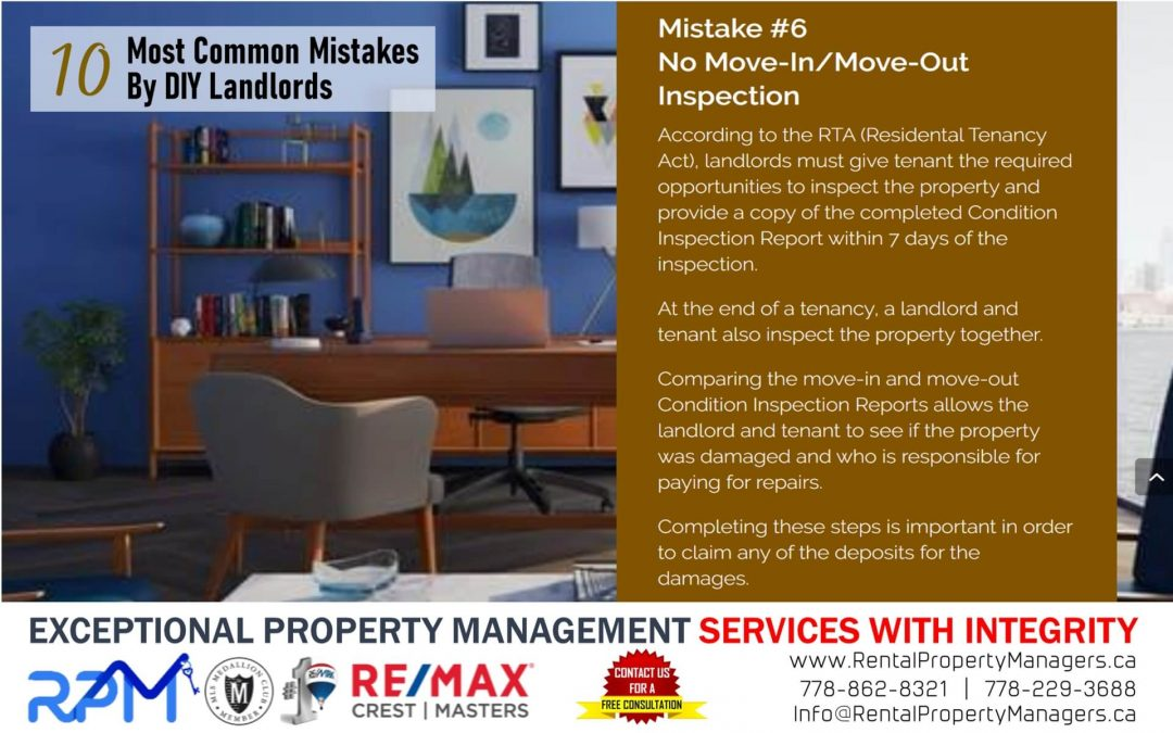 [10 Common Mistakes by DIY Landlords] Mistake #6 No Move-In/Move-Out Inspection
