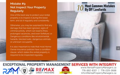[10 Common Mistakes by DIY Landlords] Mistake #9 Not Inspect Your Property Regularly