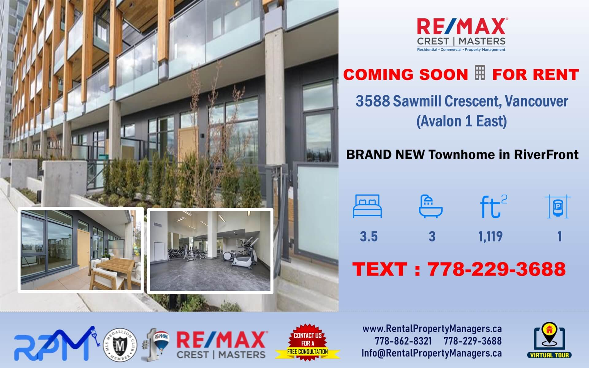 RentalPropertyManagers.ca-3588 Sawmill Crescent, Vancouver (Avalon 1 East),