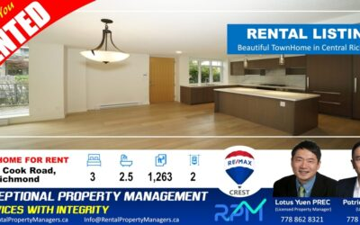 [RENTED]9019 Cook Road, Richmond (Monet), Beautiful townhome in Central Richmond