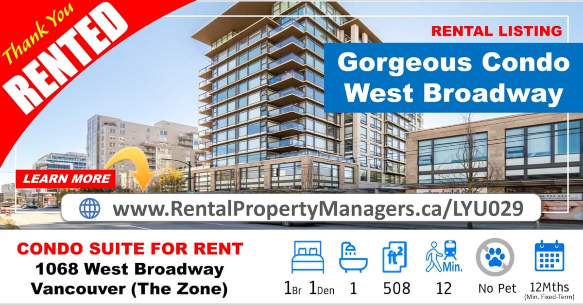 [RENTED] 1068 West Broadway, Gorgeous suite (The Zone)