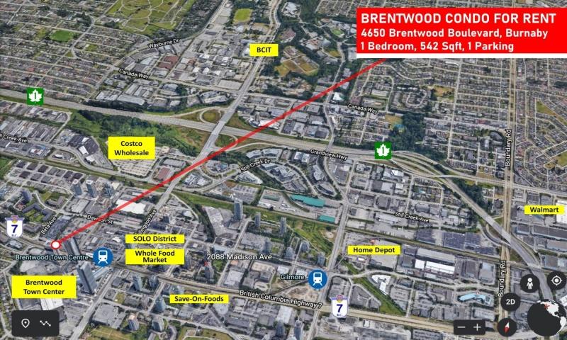 #1xxx-4650 Brentwood Boulevard, Burnaby, 1 Bedroom Bedrooms, ,1 BathroomBathrooms,Condo,Rented and Being Managed,#1xxx-4650 Brentwood Boulevard, Burnaby,1062