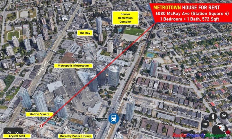 1xxx-6080 McKay Avenue, Burnaby (Metrotown), 1 Bedroom Bedrooms, ,1 BathroomBathrooms,Condo,Rented and Being Managed,Station Square 5,1xxx-6080 McKay Avenue, Burnaby (Metrotown),1068