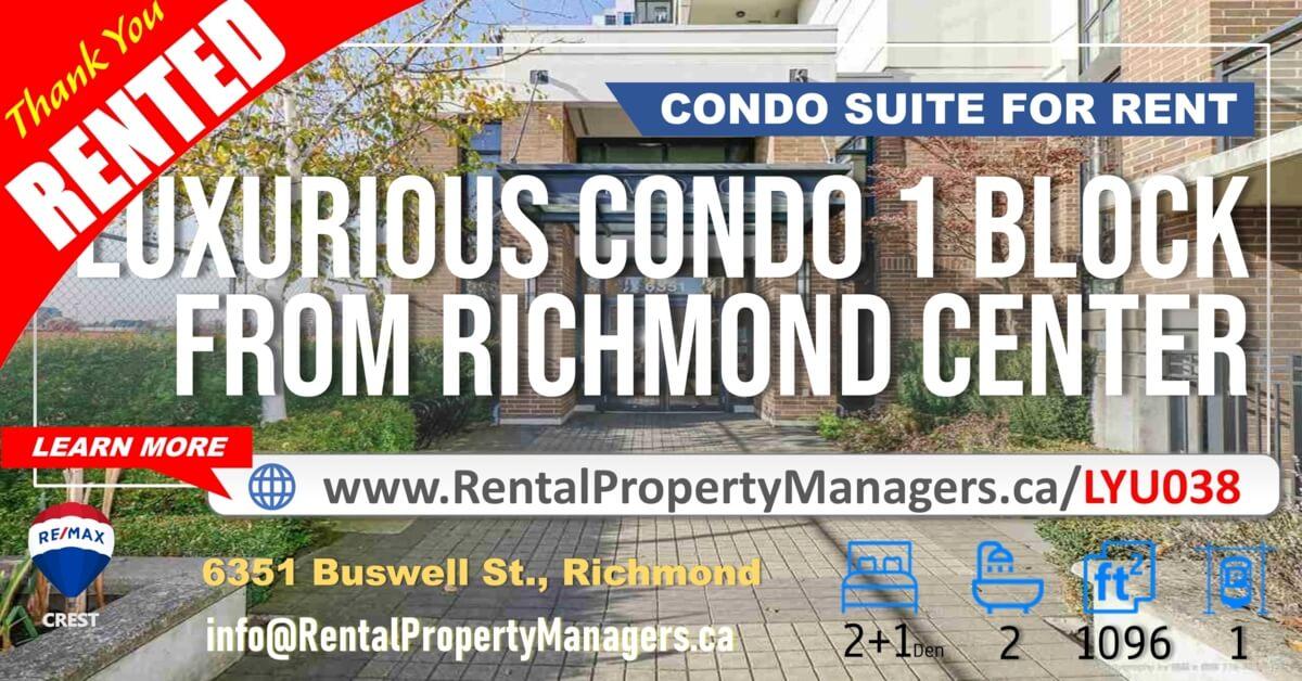 [RENTED] Richmond Center – CONDO at 6351 Buswell Street, Richmond